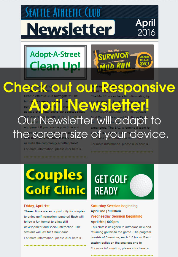 Seattle Athletic Club Northgate - April 2016 Newsletter