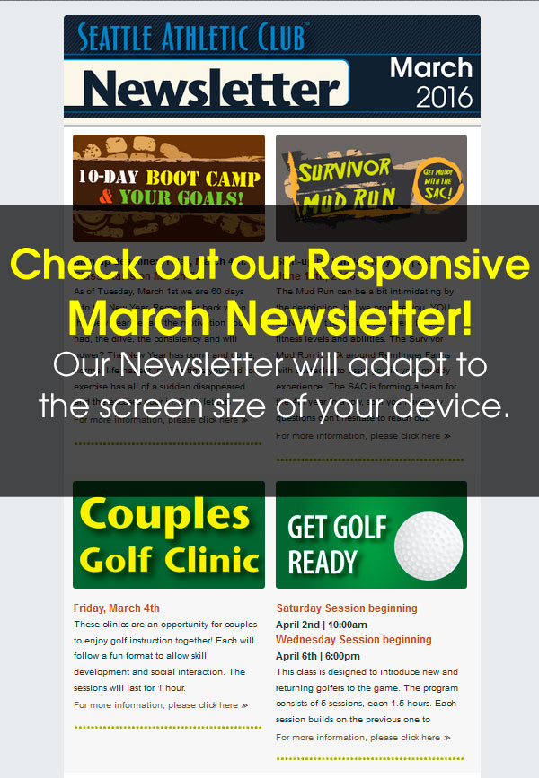 Seattle Athletic Club Northgate - March 2016 Newsletter